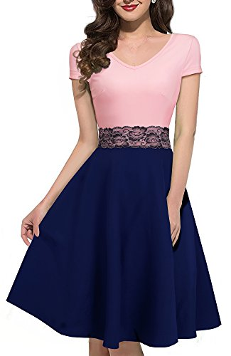 pink and blue dress - 5