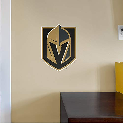 FATHEAD NHL Vegas Golden Knights - Logo Teammate- Officially Licensed Removable Wall Decal, Multicolor, Big