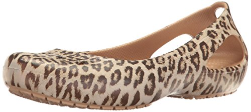 Crocs Women's Kadee Graphic W Flat, Leopard, 8 M US (Leopard Ladies)