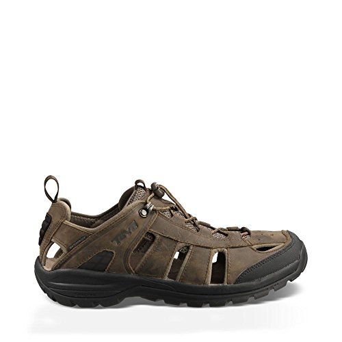 Teva Men's Kimtah Waterproof Leather Sandal,Turkish Coffee,7