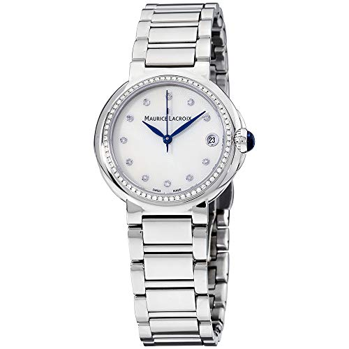 Maurice Lacroix Women's 'Fiaba' Swiss Quartz Stainless Steel Casual Watch, Color:Silver-Toned (Model: FA1004-SD502-170)