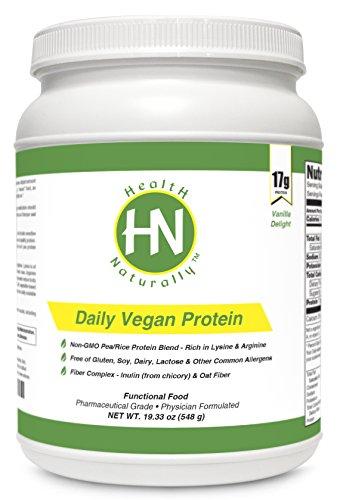Protéine Vegan Daily Vanilla Delight - 17g de VegaPro un protéines végétales à base avec Aminogen | 5 g de fibre Complex (inuline * de la chicorée et fibres d'avoine) | Sans gluten | Dairy gratuit | Lactose | gratuit d'autres allergènes communs | No Soy |