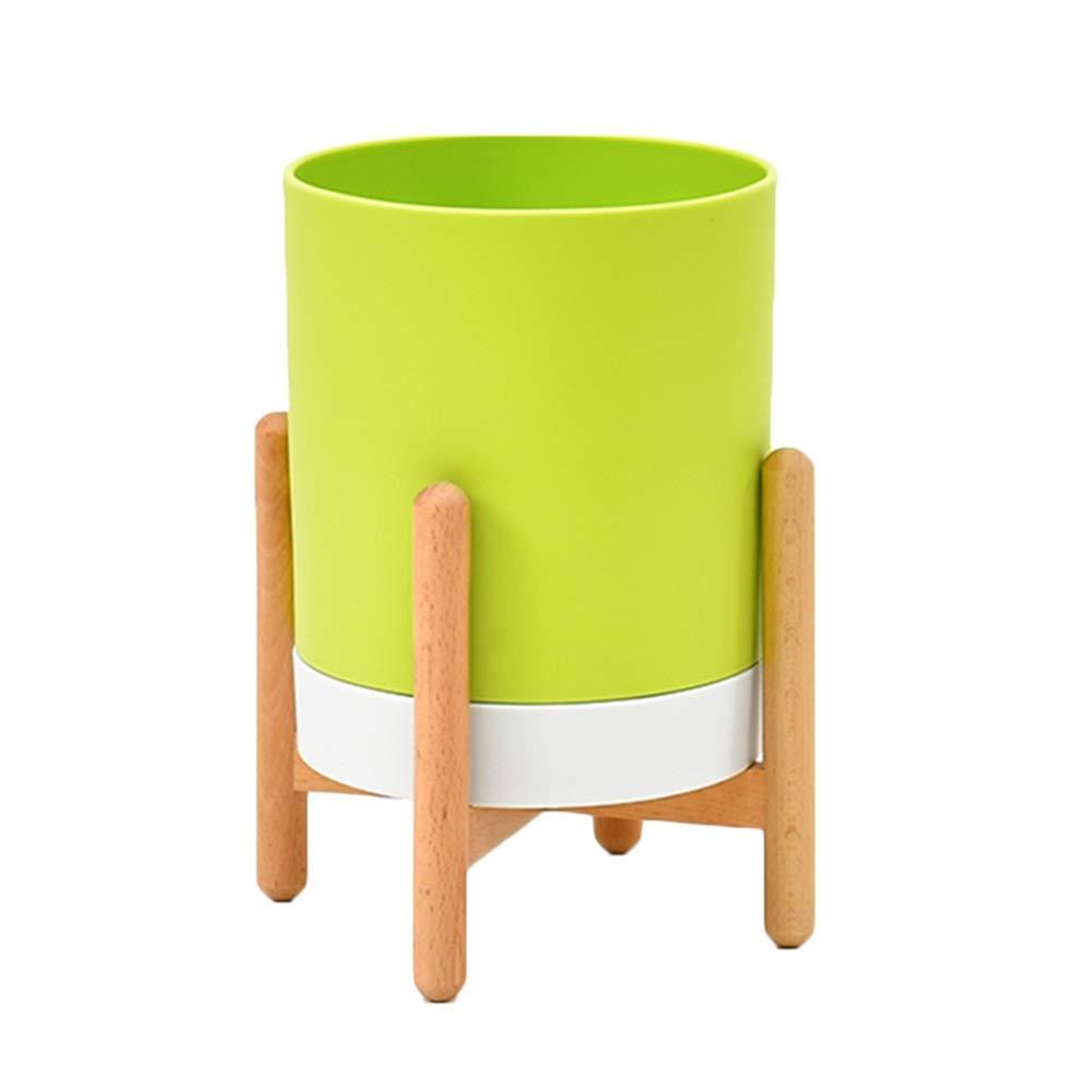 LIQICAI-Stand Di Fiori Fiore Rack Mezzo Secolo Legna Display Cremagliera in Vaso Arredonnato Rustico, 3 Colorei (colore   verde)