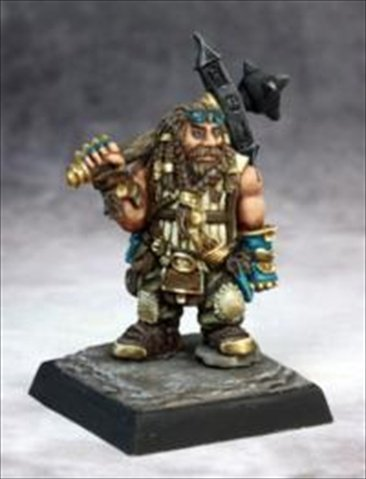 Reaper Miniatures 60122 Pathfinder Series Cheiton, Dwarf Hero Miniature