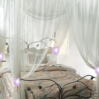 Nicamaka Casablanca 4-Point Bed Canopy - Scarlet : four point bed canopy - memphite.com