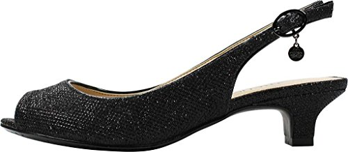 Low Fabric Black Heel Jenvey J Glitter Slingback Renee Women's t8qwqZPv