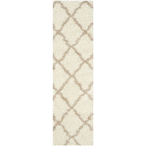 Safavieh Dallas Shag Collection SGD257B Ivory and