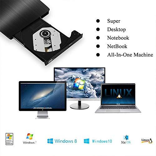 External CD Drive, Cocopa USB 3.0 Portable CD DVD +/-RW Drive Slim...