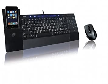 iHome iConnect Media Keyboard w/dock for iPod or iPhone