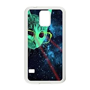 Galaxy Hipster Cat DIY Cover Case for SamSung Galaxy S5 I9600,personalized phone case ygtg550144