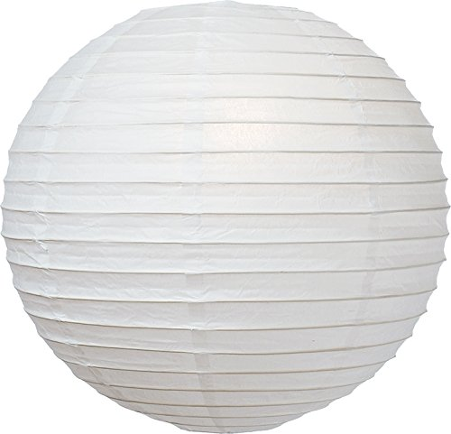 Luna Bazaar Premium Paper Lantern, Lamp Shade (36-Inch, Free-Style, Ivory) - Rice Paper Chinese/Japanese Hanging Decoration - For Home Decor, Parties, and Weddings …