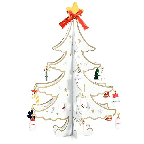 Yunnanhere DIY creative wooden Christmas tree decoration (white) by yunnanhere