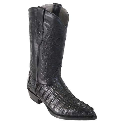 - LOS ALTOS BOOTS Mens Caiman Tail J Toe Western Boots Black 8.5 EE