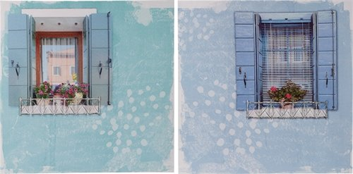 Transpac Imports, Inc. Transpac Canvas / Tin Dimensional Window Art, Set Of 2