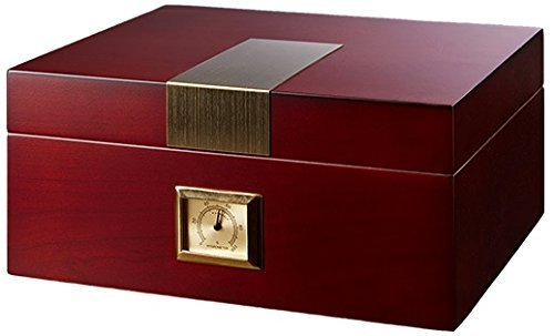 La Madera Cubana Cherry Humidor Oak Tree Cigar Humidor with Humidifier & Hygrometer Cigars Box Set, Durable & Elegant Wood Design, Functional High-End Interior Perfect for 30-50 Cigars - Oak Humidifier