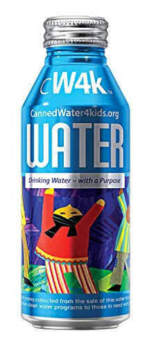 CannedWater4Kids (CW4K) Drinking Water in 16oz aluminum bottles