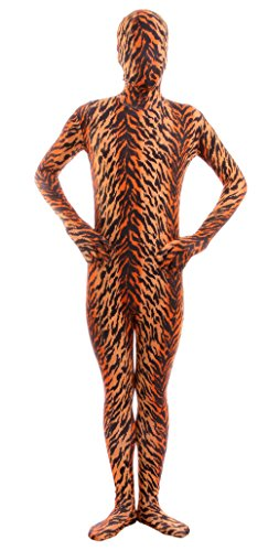 [Marvoll Lycra Spandex Tiger Full Bodysuit Zentai Costume (Small, Tiger)] (Lovely Leopard Sexy Costumes)