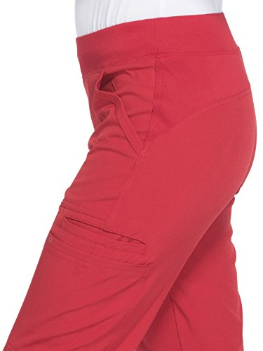 HeartSoul Women's HS020'' Drawn To Love Low Rise Pull-On Cargo Pant- Red- Large by HeartSoul Scrubs (Image #3)