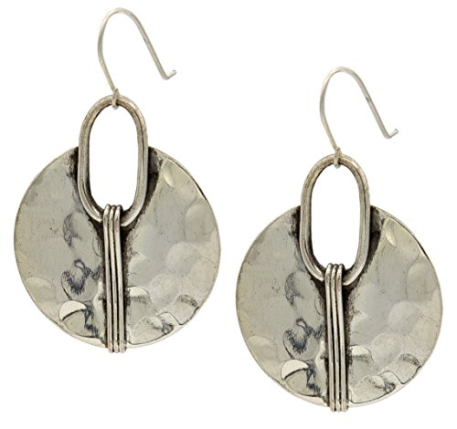 Silver Cresent Earring Hammered Ethnic | SPUNKYsoul Collection by SPUNKYsoul