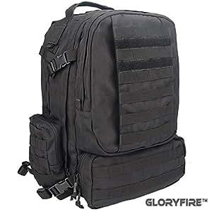 GLORYFIRE Tactical Backpack Sling Pack Lightweight High Strength 1000D Polyester (B)