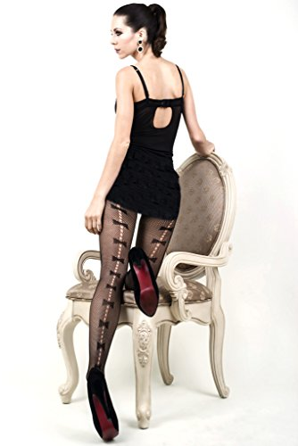 Yelete Killer Legs Women's One / Plus Size Thigh High Fishnet Tights Stocking Pantyhose (Plus Size, Bow Tie Backseam)