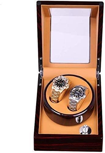 ギフトウォッチワインダーウォッチワインダー、ミニ2 + 0電気モーターボックス自動超静かな機械式腕時計ボックス装飾回しBoxsを巻き、5速調整可能