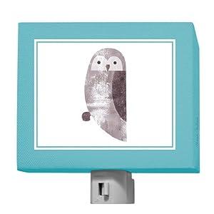 Oopsy Daisy Forest Friends Owl Night Light, Grayblue, 5″ x 4″