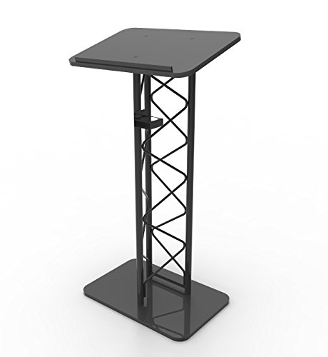 - FixtureDisplays Truss Metal and Wood Podium Pulpit Lectern with A Cup Holder 11566-H