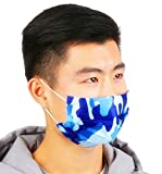 Surgical Mask 20Pcs Disposable Face Mask Cute Print Flu Mask 3 Layers Earloop Mouth Mask Half Face Windproof Mask Anti-dust Cotton Face Mask for Men and Women