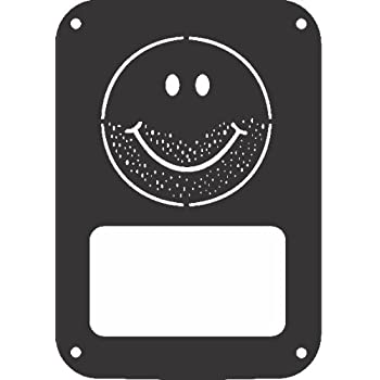 JeepTails Stubble Smiley Face - Jeep JK Wrangler Tail Lamp Covers - Black - Set of 2
