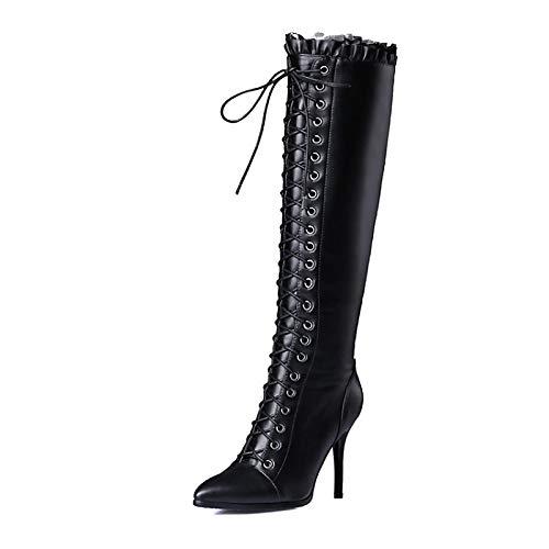 IWxez Damen Komfortschuhe PU (Polyurethan) Herbst & Winter Stiefel Stiefel Stiefel Stöckelabsatz Schwarz de7bea