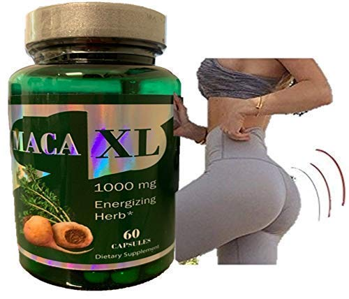 Maca Capsules Original Pill Shape Buttocks Bigger Butt Booty Shaper SUPER MACAXL Get a Bigger Booty (Best Maca Root For Bigger Booty)