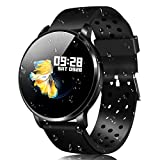 CatShin Fitness Tracker Watch CS06 IP68 Waterproof Activity Tracker for Women Men with Heart Rate Monitor Pedometer Swimming Cycling Climbing Sleep Monitor Smartwatch Bracelet for IOS Android (Black)