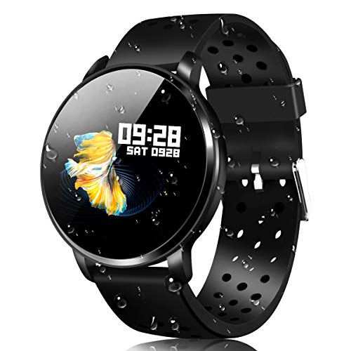 (Waterproof Activity Tracker IP68 CatShin CS06 Fit Smart Watch with Heart Rate Monitor Sleep Blood Preasure Fitness Tracker Watch Band Calorie Counter Pedometer for Men Women Kids Android IOS)