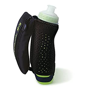 12 oz. Amphipod Hydraform Handheld Thermal Lite insulated runners hydration bottle by Amphipod Black