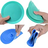 V-TOP Tub Stopper 2 Pack, 6 inches Large Silicone