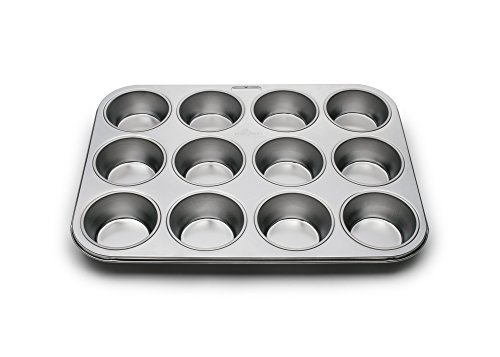 Fox Run 4868 Muffin Pan, 12 Cup, Stainless - Muffin 12 Cup Professional Pan