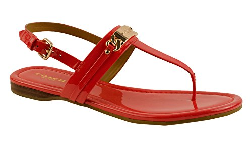 COACH Caterine Logo Hardware Flat Sandals Watermelon (6.5) by Coach