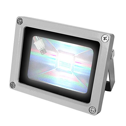 eTopLighting 10W RGB Color Changing LED Flood Light for Outdoor and Indoor with Cord and Plug and Remote Control, APL1191, 10 Watt