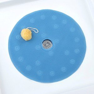 Round Shower Mat - SlipX Solutions Blue Comfort Foam Shower Mat Feels Great on Tired Feet & Helps Prevent Slips (23