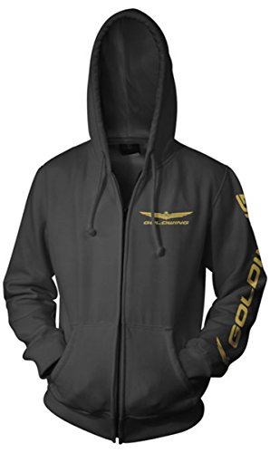 Honda Men's Official Licensed Products Gold Wing Corporate Logo Hoody Zip ()