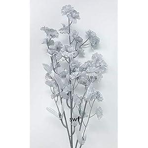 "17"" Baby's Breath Silver Silk Artificial Wedding Bridal Flower (Dozen) 96"