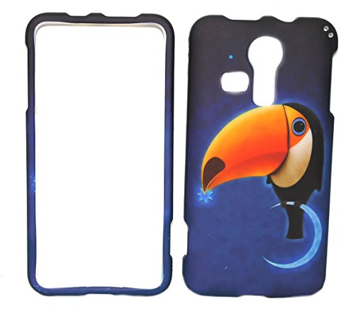 Parrot of Blue Design Rubberized Snap-on Protective Cover Case for Kyocera Hydro Vibe C6725