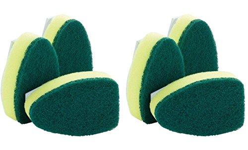 (6) Scotch Brite Heavy Duty Dishwand Scrubber Pads Refills Heads for Dish Washing Wand ()