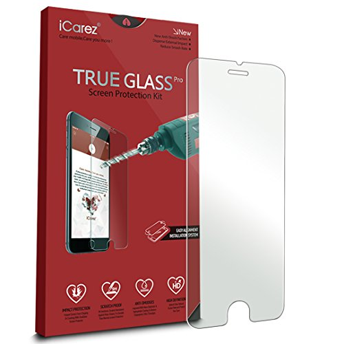iCarez [Tempered Glass] Screen Protector for Apple iPhone 8 iPhone 6 / 6S iPhone 7 4.7 inch Anti Scratch [1-Pack 9H 0.33MM 2.5D] Easy Install with Lifetime Replacement Warranty