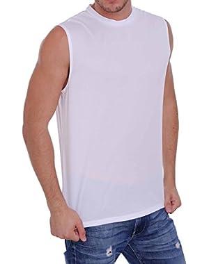 Men's Mesh Dri Fit Light Weight Sleeveless Shirt Workout Gym Made in The USA