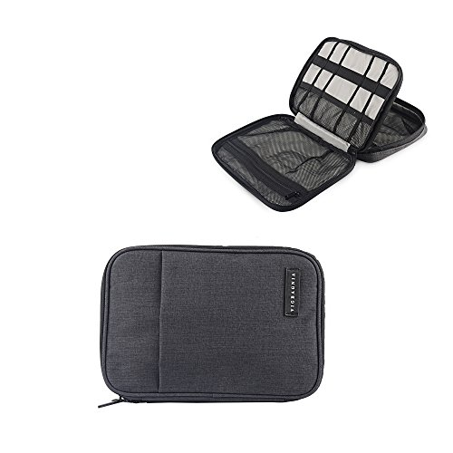 VIGBAGNIA Electronic Organizer Double Layer Cord Organizer Bag Electronics Accessories Case Business Leisure Travel Gear Carry Bag for Phone Charger and Cable