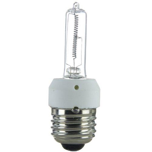 120v T4 Medium Screw - Sunlite Q250/CL/MED 250-Watt Halogen Medium Based T4 Bulb, Clear