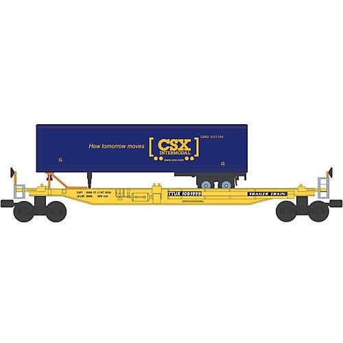 Bachmann Industries Front Runner Intermodal Car with Trailer CSX O Scale Train