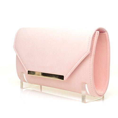 Suede PIXIE Faux Pink Size Baby Clutch Bag Medium CqtqRZrx